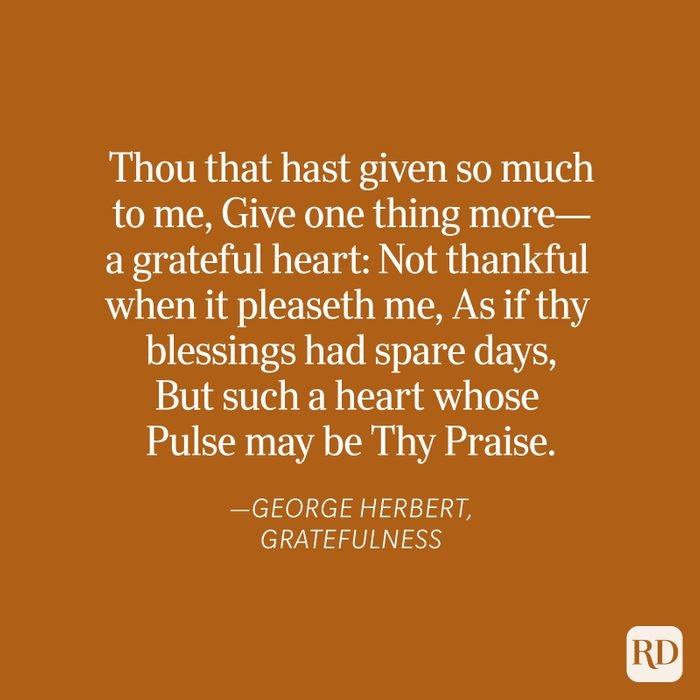 George Herbert Thanksgiving Blessing