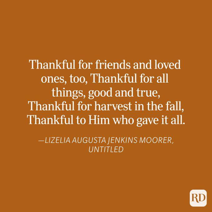 Lizelia Augusta Jenkins Moorer Thanksgiving Blessing