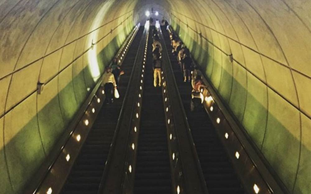 Wheaton Station The Longest Escalator In The West