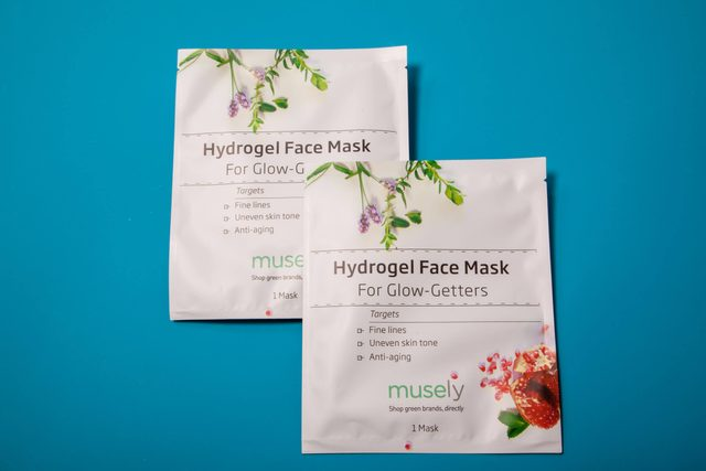 hydrogel face mask musely