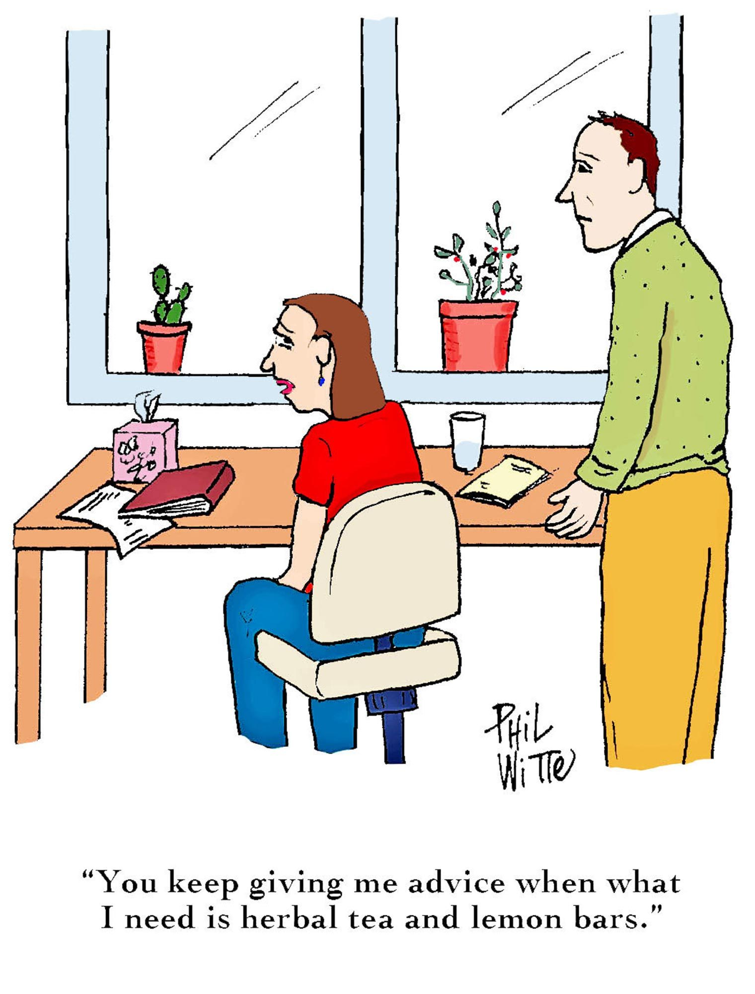 Give less advice cartoon