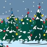 Can You Guess Which Christmas Tree Doesn't Belong in This Picture?