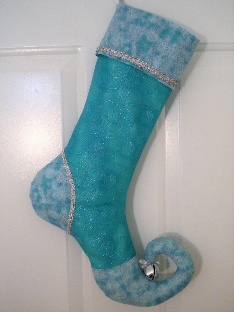 turquoise stocking
