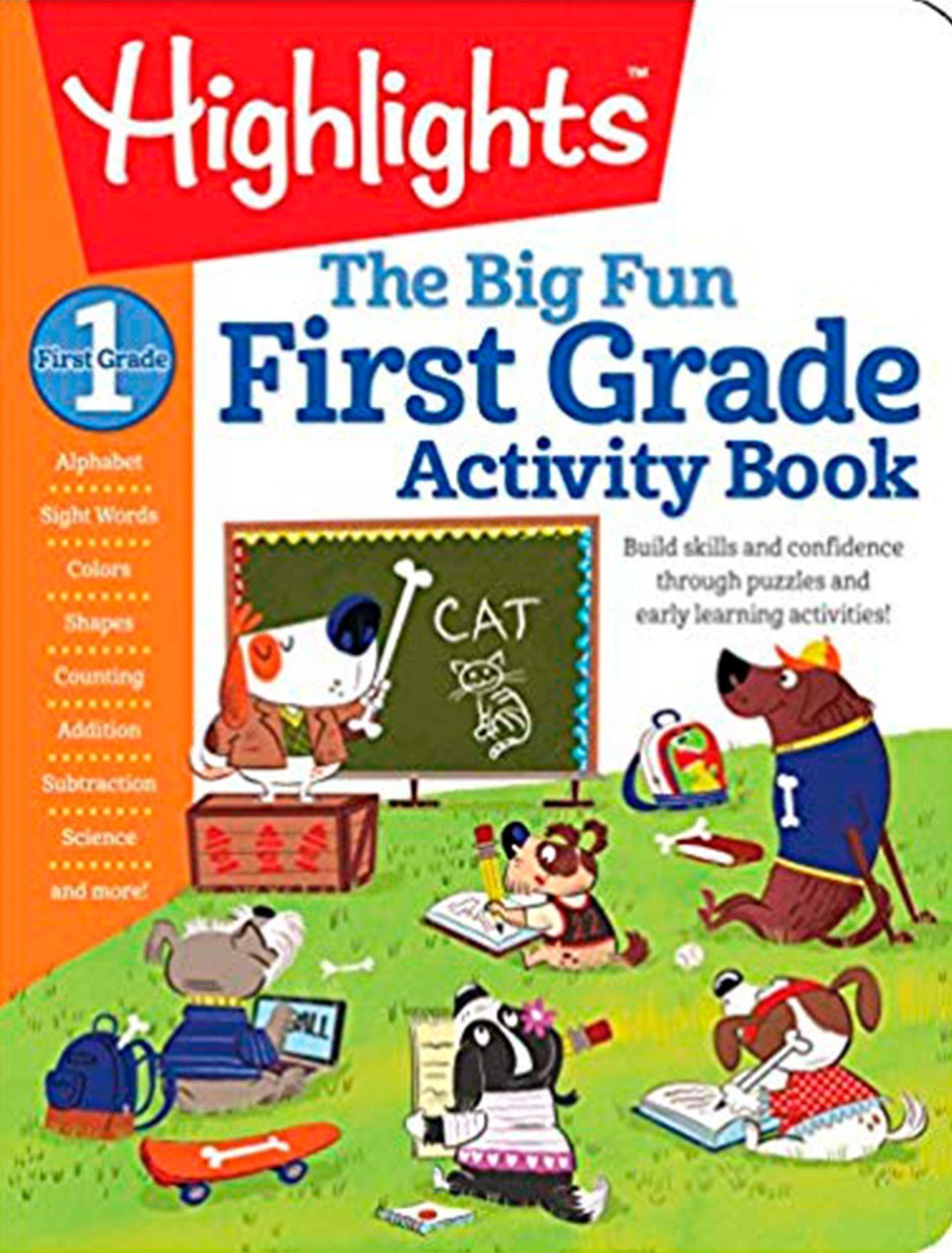 First grade activity book
