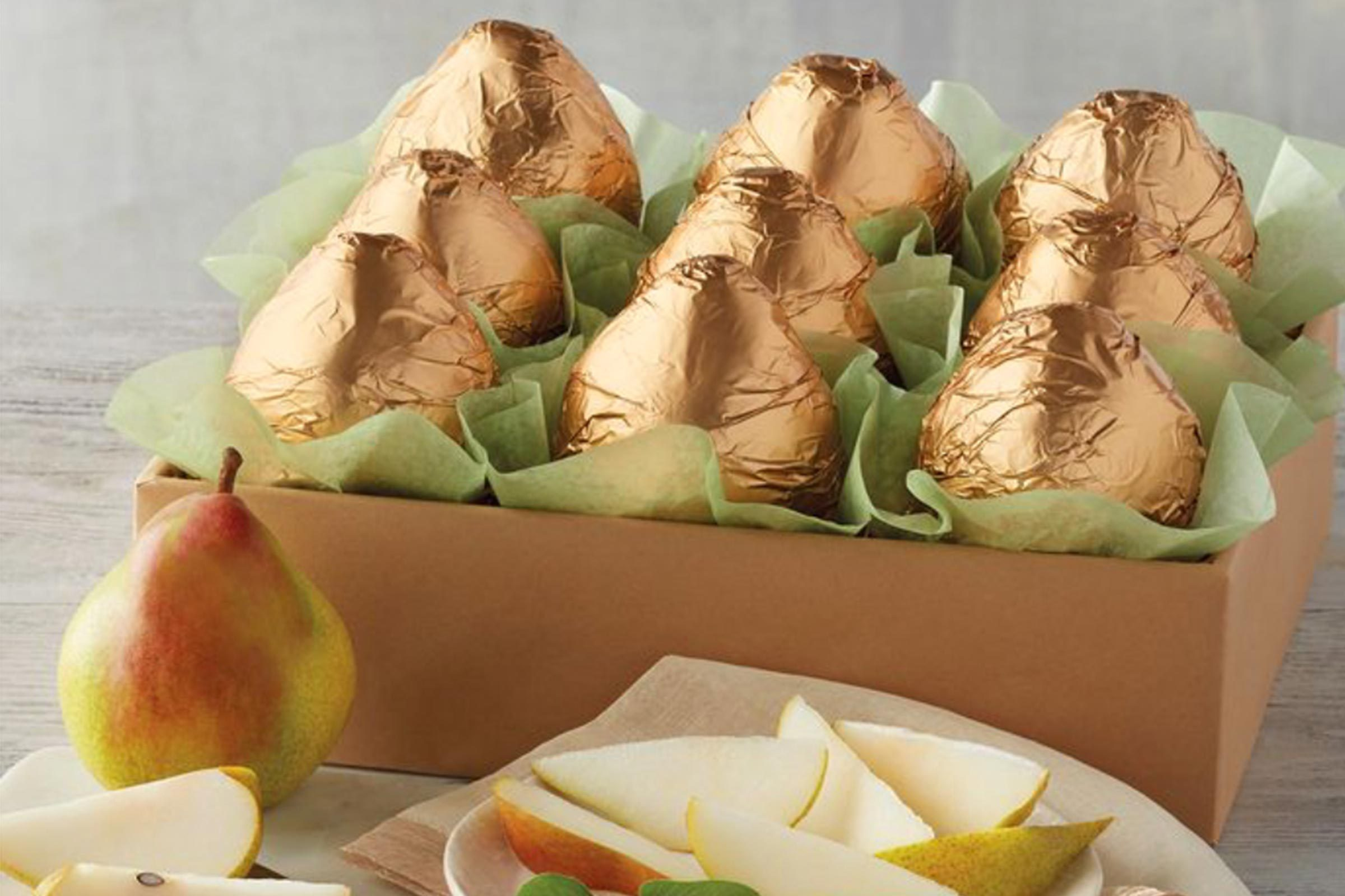 Gold pear gift