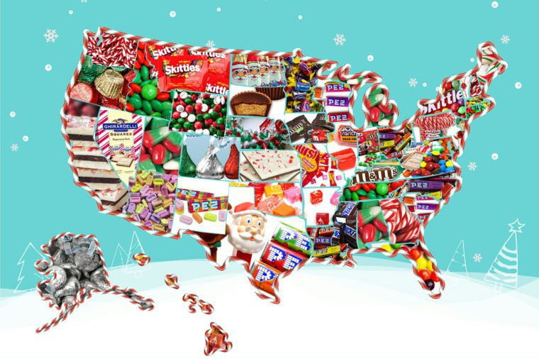 us map courtesy candystore comtis the season to eat fruit cakes and gingerbread cookies but when it comes to major candy holidays christmas may not be the