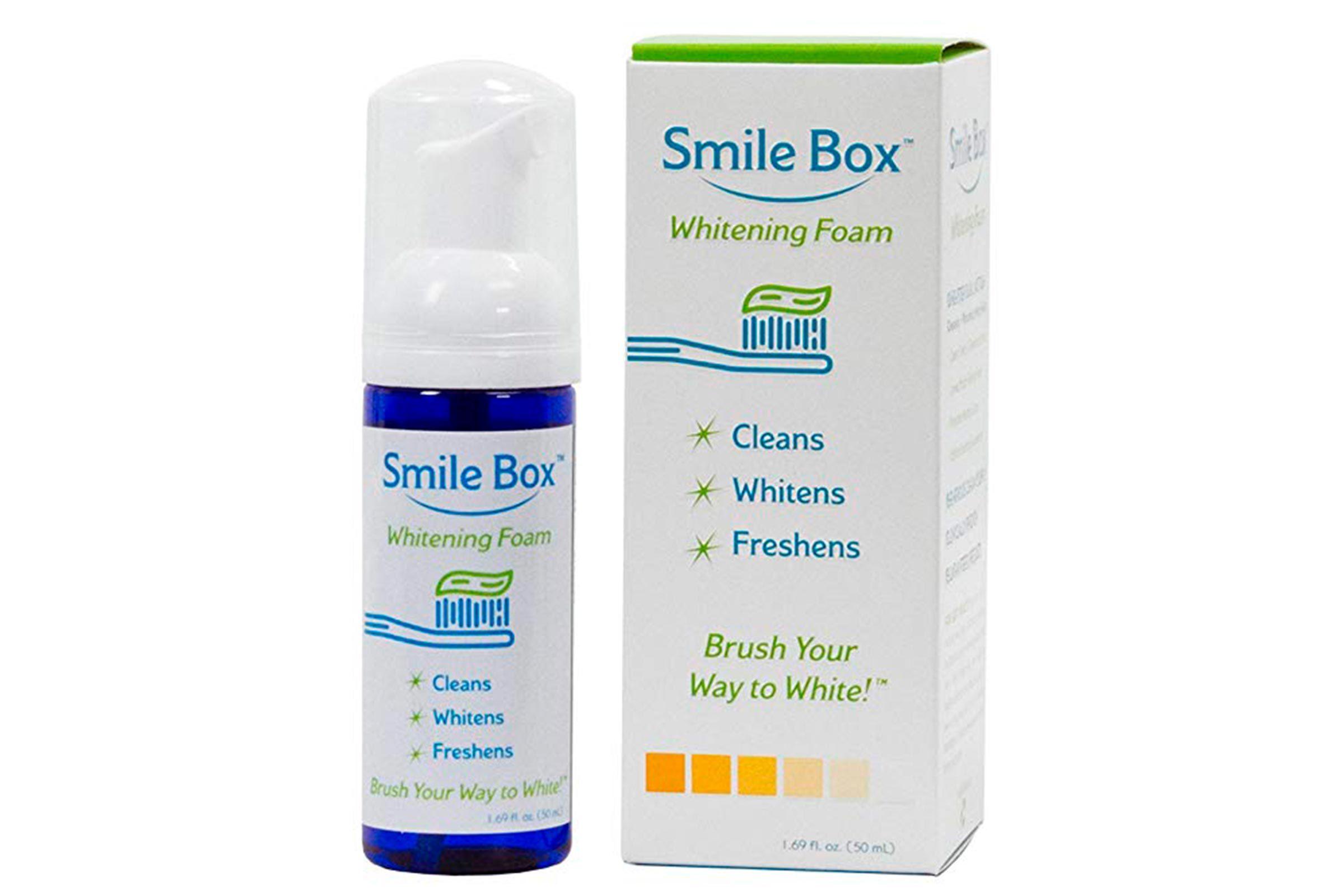 Teeth whitening foam