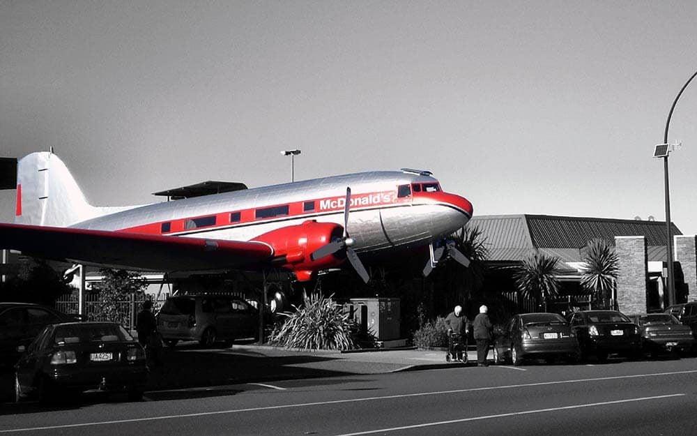 plane burger