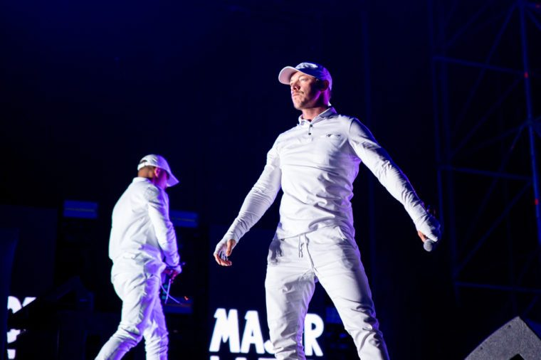 BENICASSIM, SPAIN - JUL 14: Major Lazer (electronic music band composed of record producer Diplo, Jillionaire and Walshy Fire) perform in concert at FIB Festival on July 14, 2016 in Benicassim, Spain.