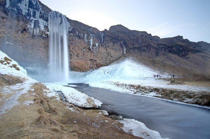Seljalandsfoss in winter season, Iceland