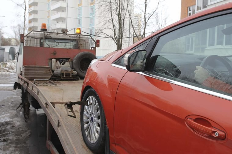 car-towed