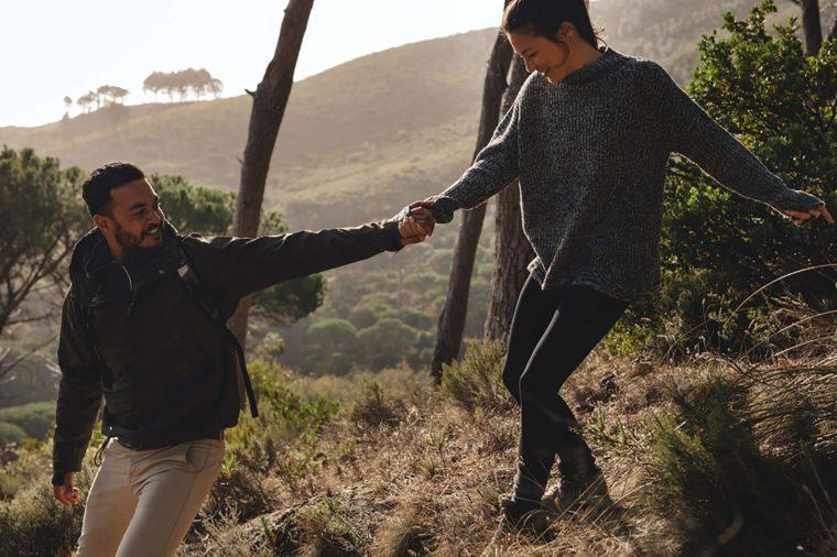 Couple-hiking