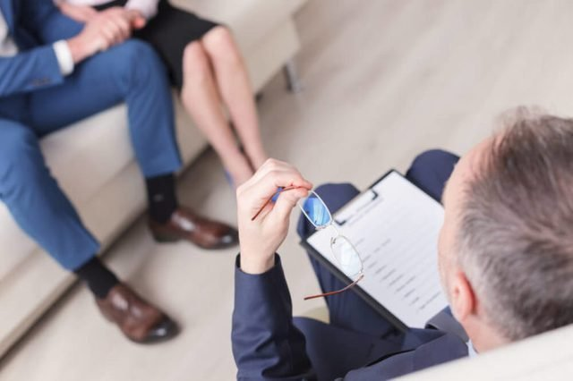 Happy marriage starting new life after therapy session