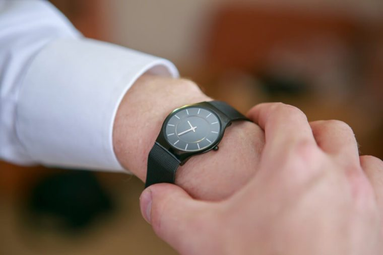 Black man's watch on the wrist