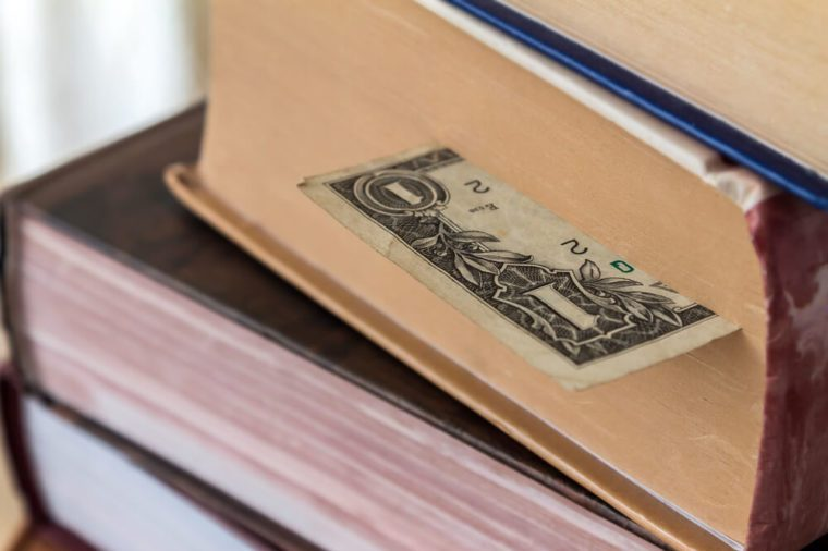 bookmark for books of the old dollar