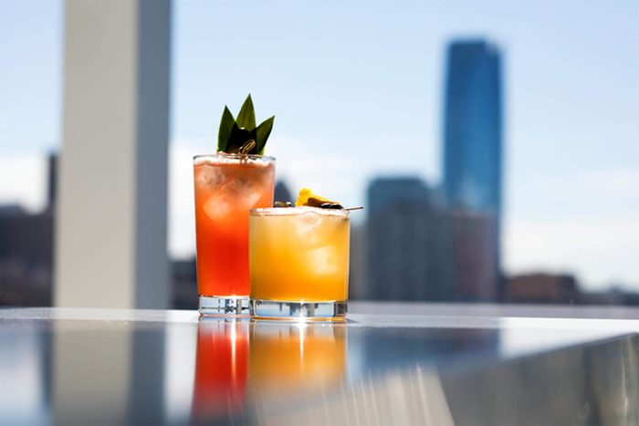 drinks at O Bar, situated atop the Ambassador Hotel in Oklahoma