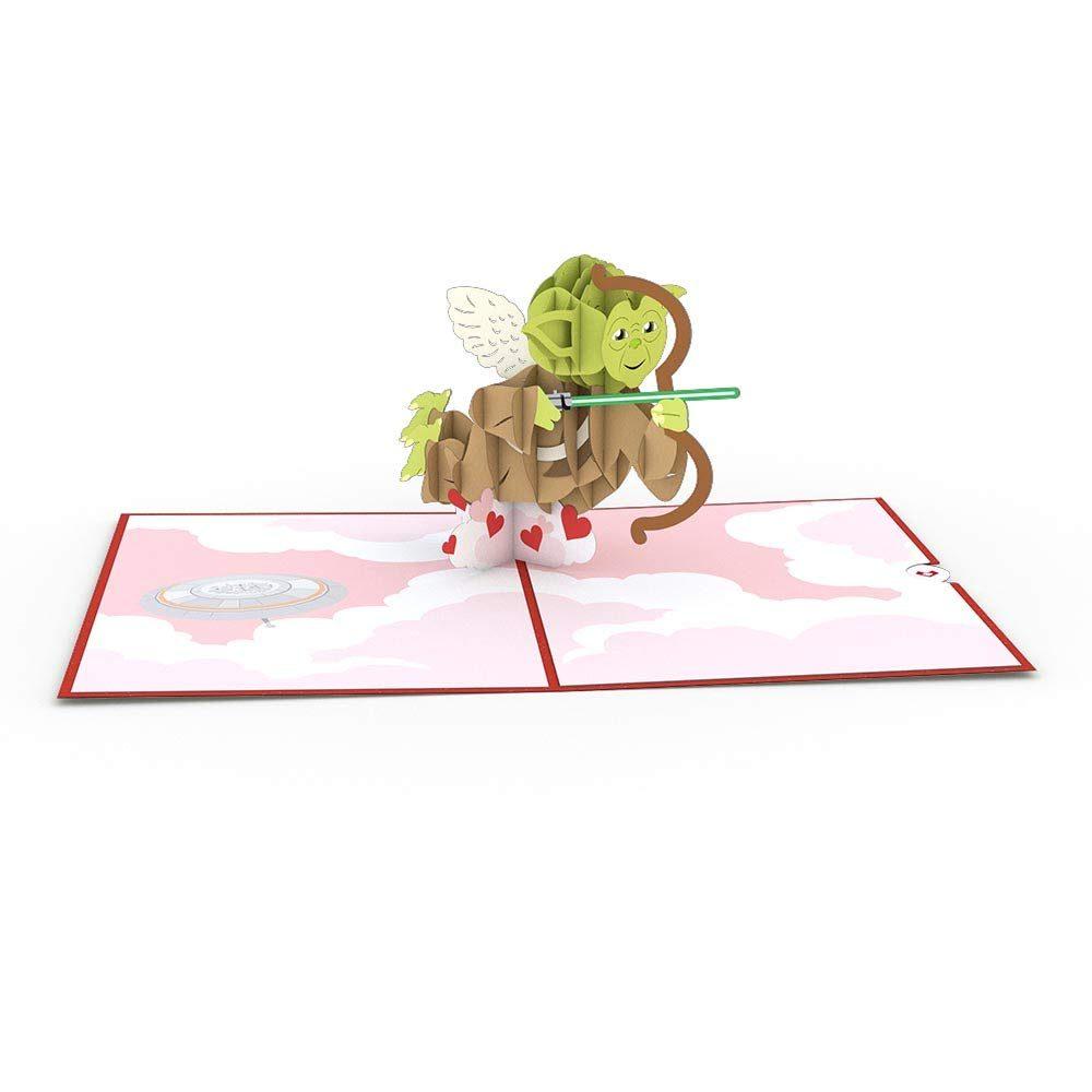 star wars yoda valentines pop up card