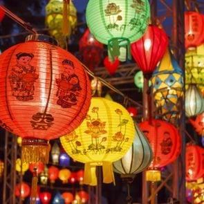 Asian lanterns in international lantern festival