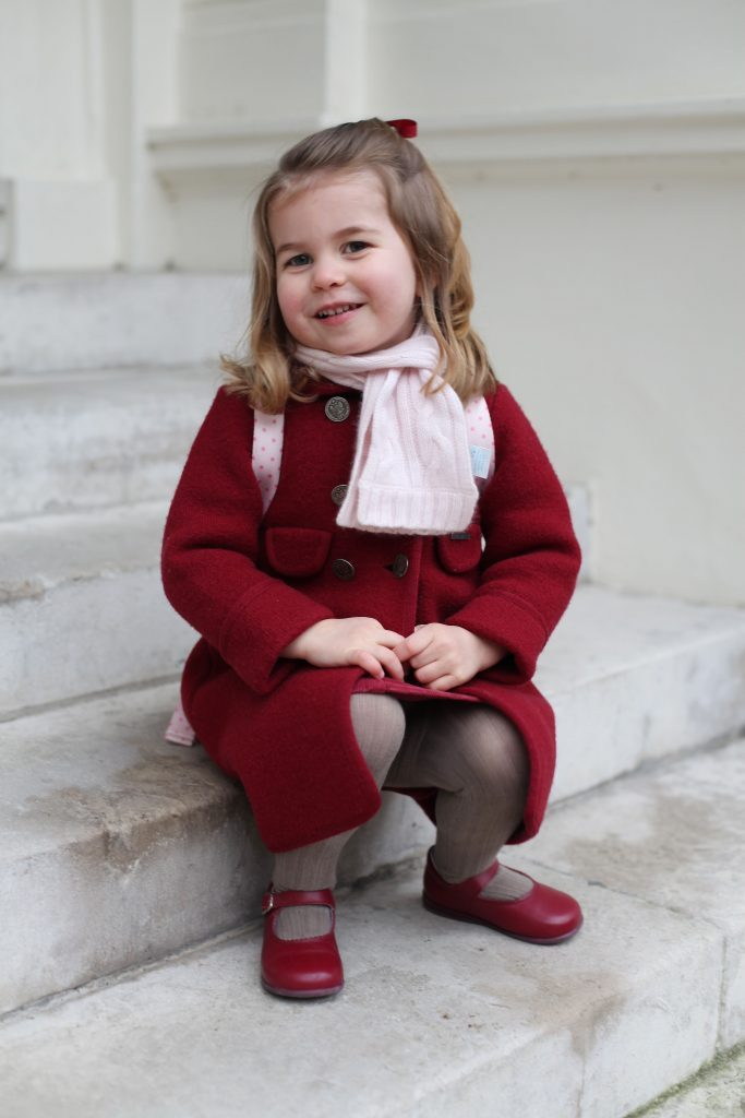Princess Charlotte, first day at the Willcocks Nursery School