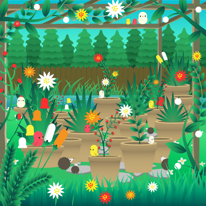 find the corgi in the garden scene hidden objects puzzle