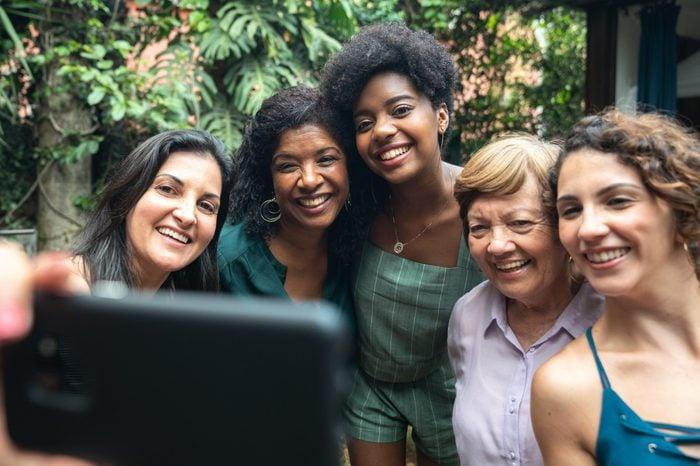 women friends portrait