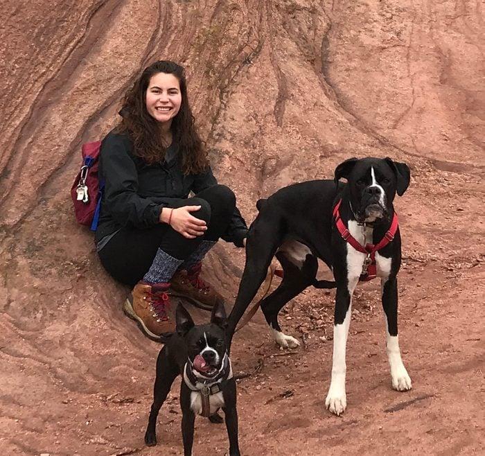 layla khaldi and dogs