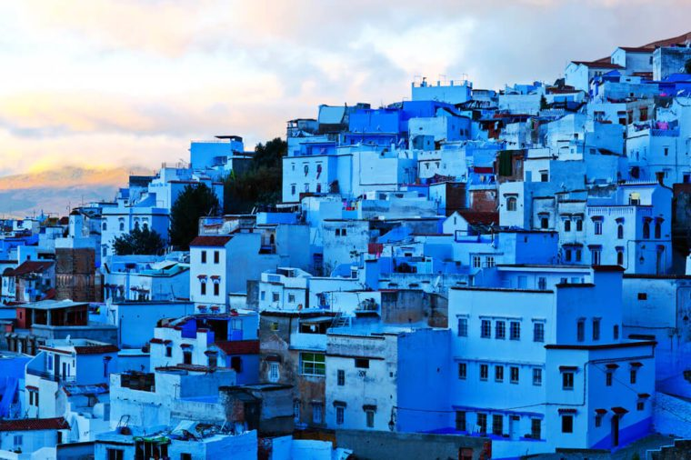 Medina of Chefchaouen, Morocco. Chefchaouen or Chaouen is a city in northwest Morocco. It is the chief town of the province of the same name, and is noted for its buildings in shades of blue