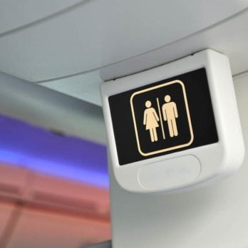 This Is the Best Time to Use the Airplane Bathroom