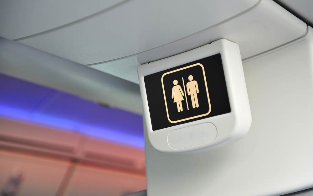 The Best Time to Use the Airplane Bathroom | Reader's Digest