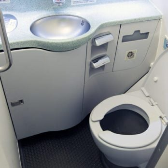 This Is Why You Aren't Allowed to Use an In-Flight Bathroom Until Takeoff