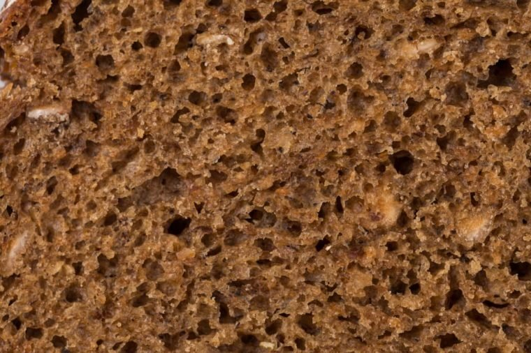 detailed look at the rye bread texture