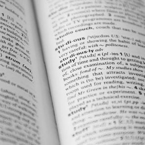 Dictionary page with word