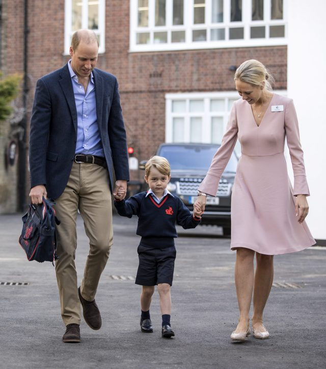 Prince George arrives for his first day at Thomas's School, Battersea, London, UK - 07 Sep 2017