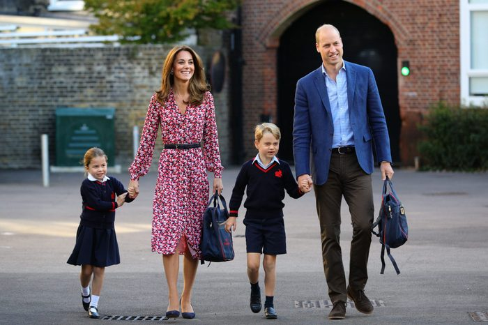 Princess Charlotte's first day at school
