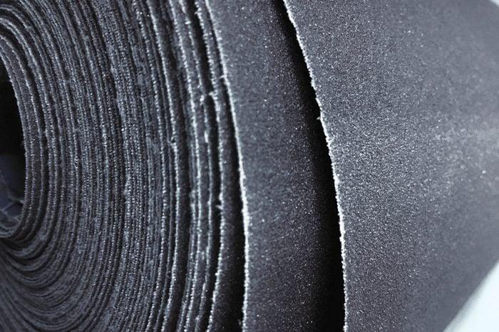 Сlose up of rough Sandpaper sheet texture