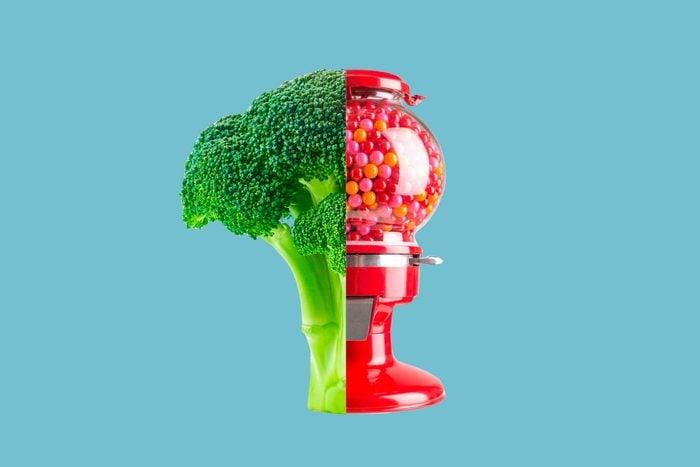 Broccoli-gumball-machine