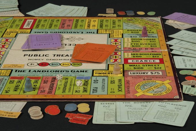 monopoly board in play