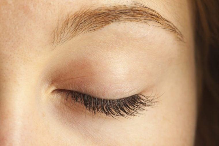 Closed eye close-up
