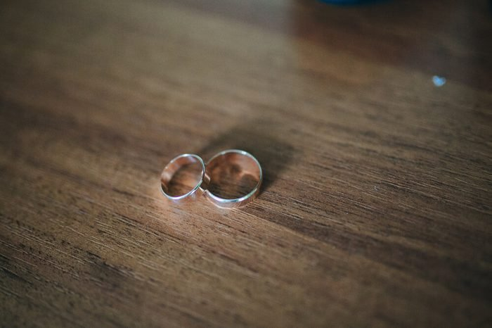 Wedding rings on a background