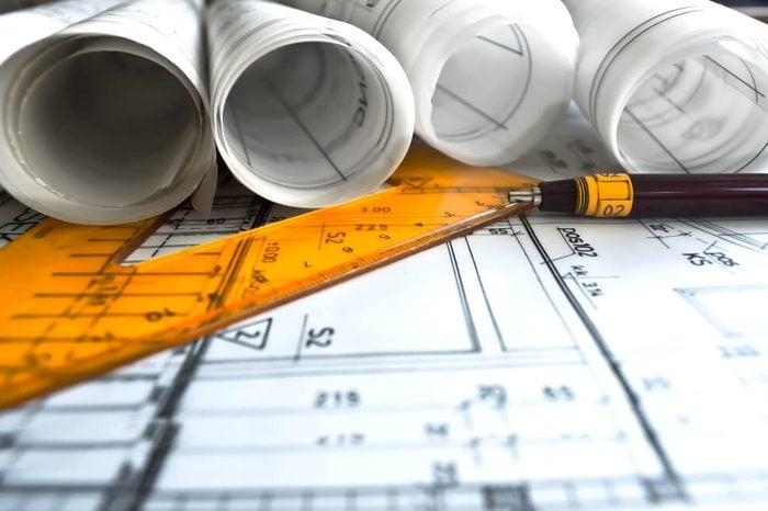 Architecture rolls architectural plans project architect blueprints