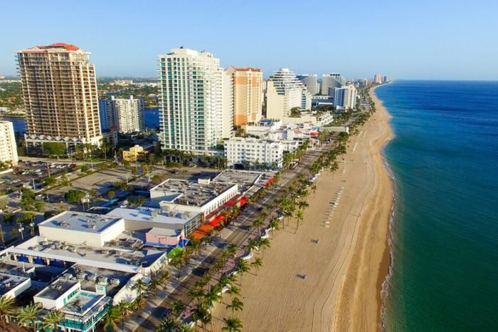 Aerial view of Fort Lauderdale, Florida.