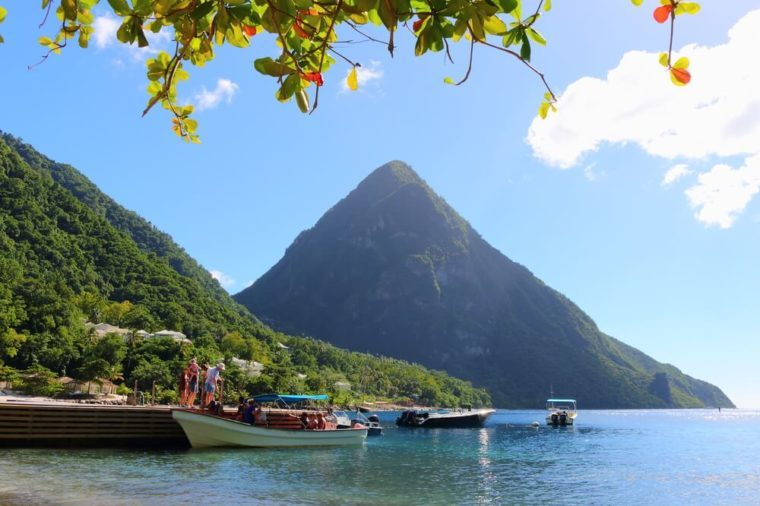 jalousie beach, gros piton, st. lucia, caribbean