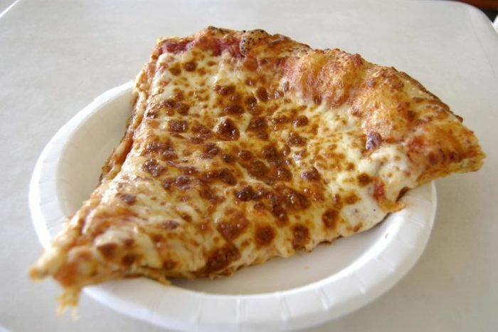 A $1.99 slice of pizza at a Costco store