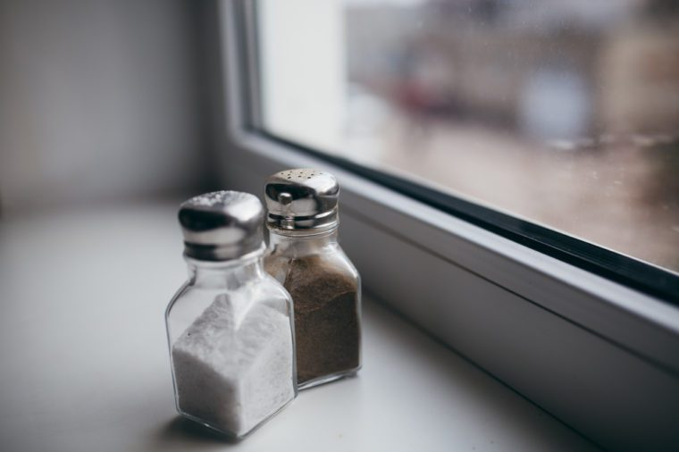 Salt and pepper. Kitchen appliances.