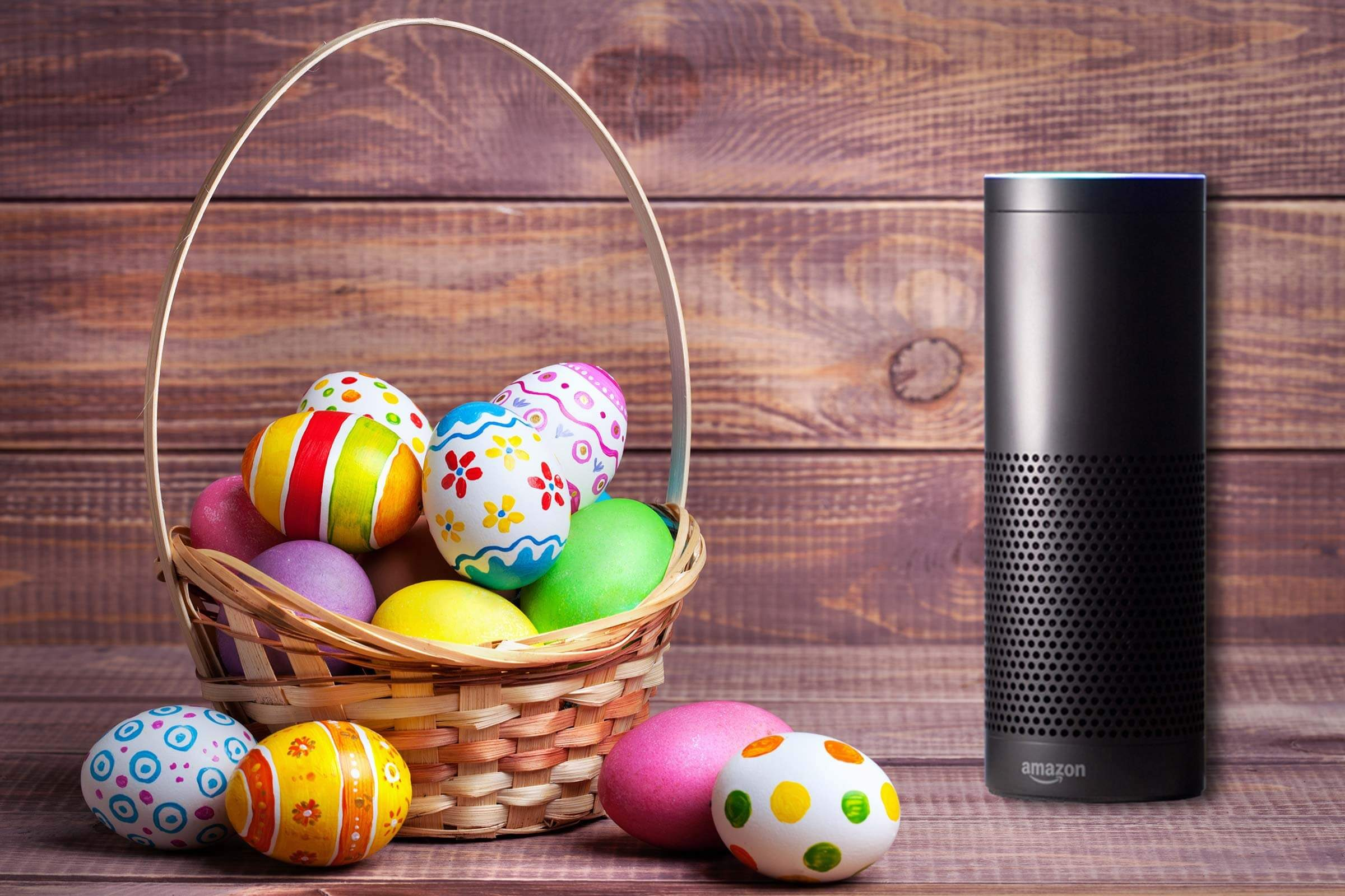 Amazon Echo easter basket