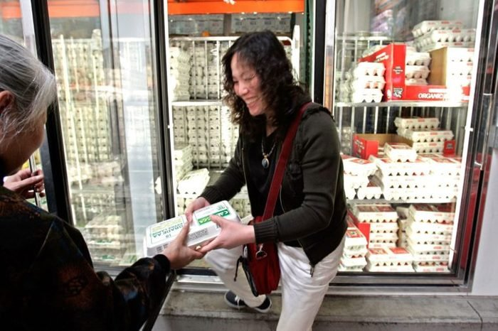 Costco shoppers buy eggs at Costco in Mountain View, Calif