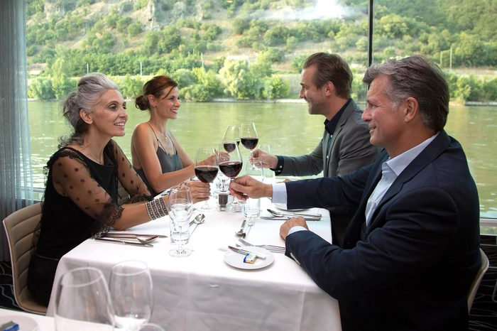 Friends on River Cruise