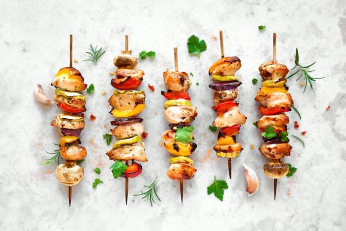 food on a stick day kebabs