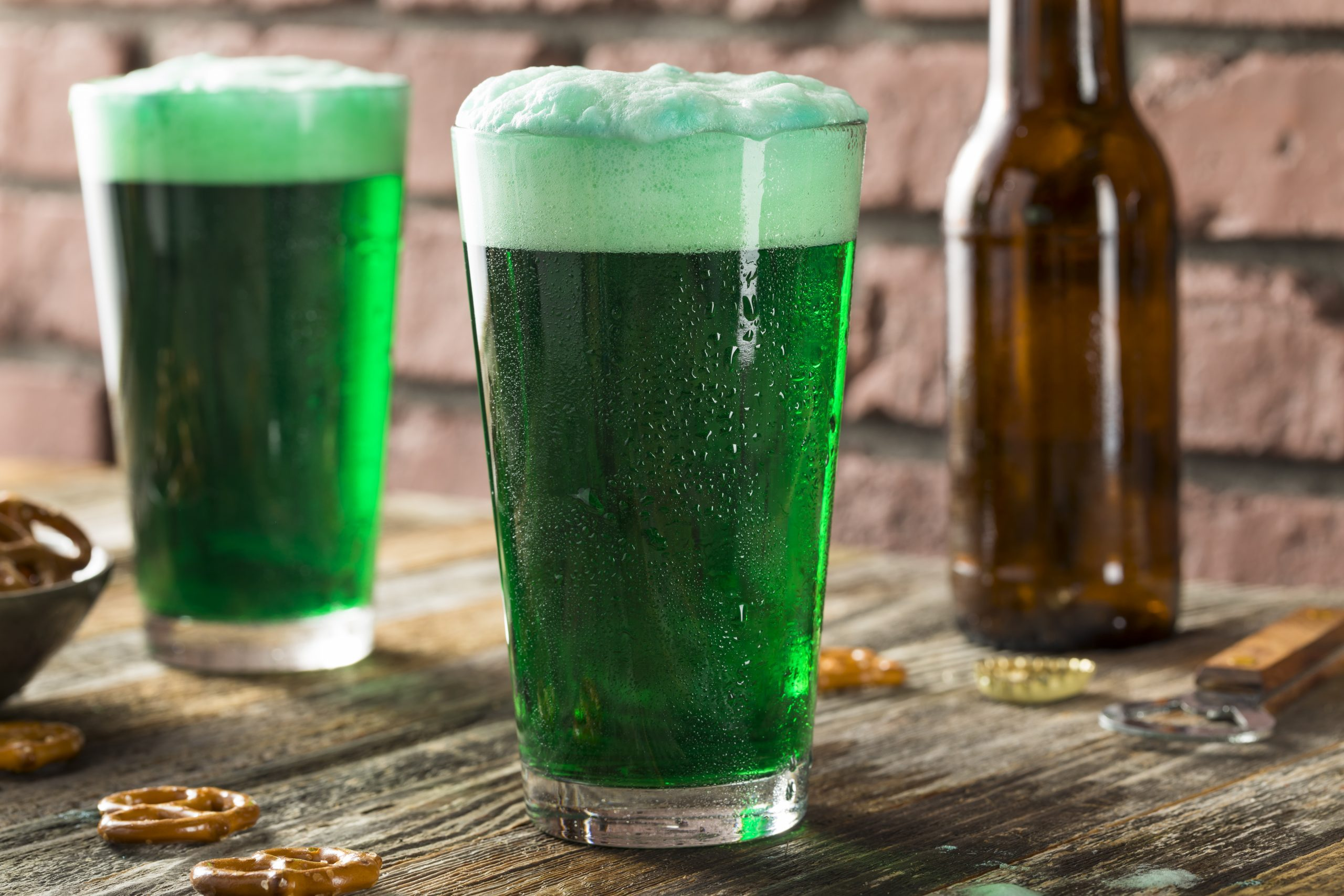 Refreshing Festive Green Beer For St. Patricks Day. fun facts.