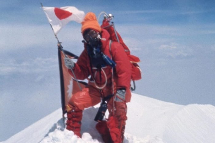 Mountain climber Junko Tabei becomes the first woman to stand on the summit of Mt. Everest in Nepal on